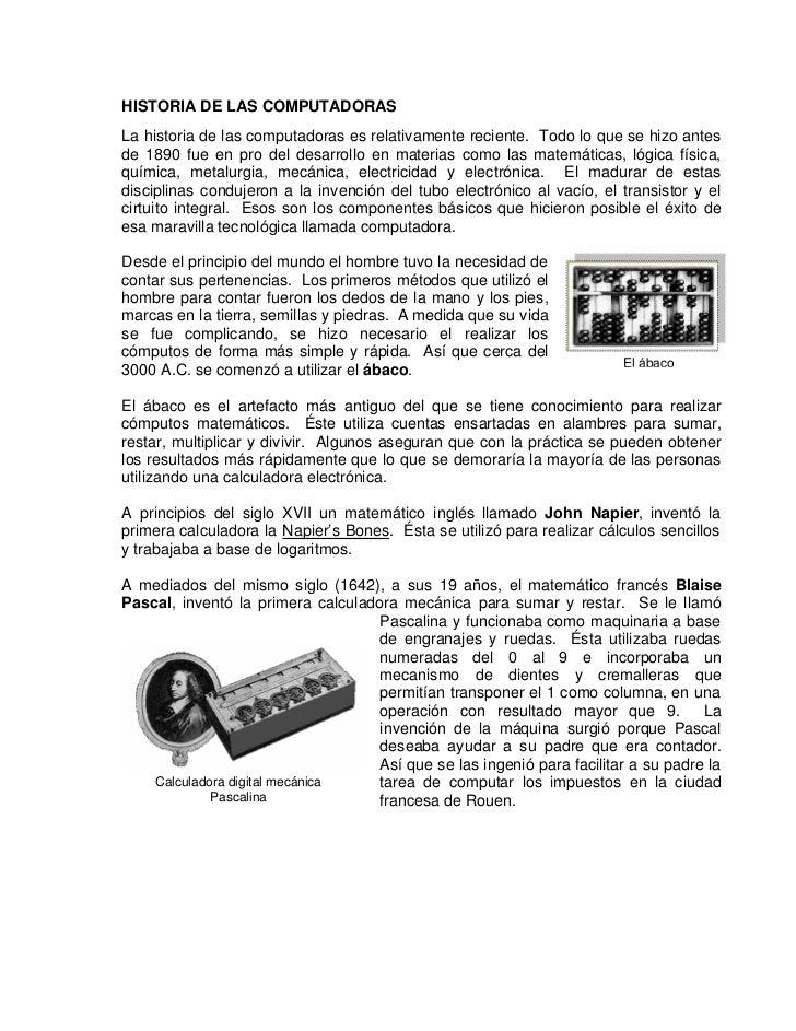 Historia computadoras