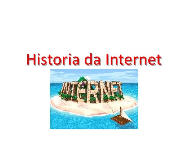 Historia da internet
