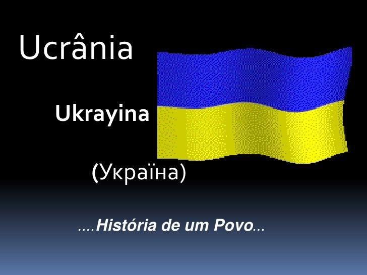 Historia da ucrania ppt
