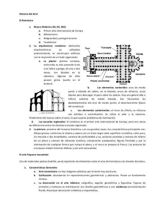 Historia del ArteEl Románico         1.   Marco Histórico (XI, XII, XIII):                  a. Primer arte internacional d...