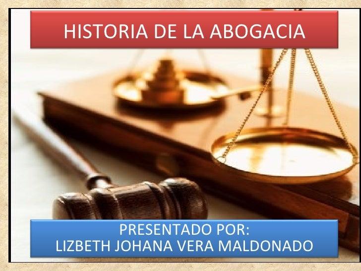 Historia de la abogacia