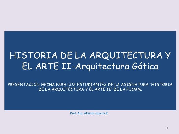 Historia de la arquitectura y el arte-Arquitectura Gótica