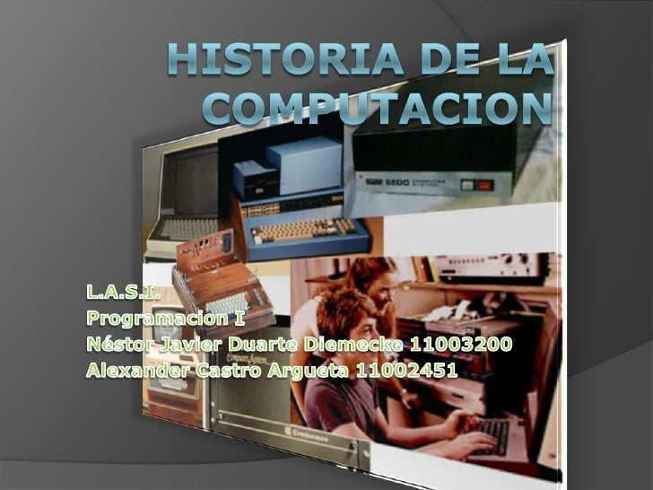 Historia de la computacion