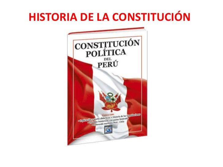 HISTORIA DE LA CONSTITUCIÓN