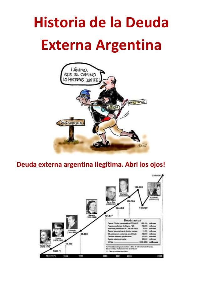 Historia de la Deuda Externa Argentina Deuda externa argentina ilegítima. Abri los ojos!