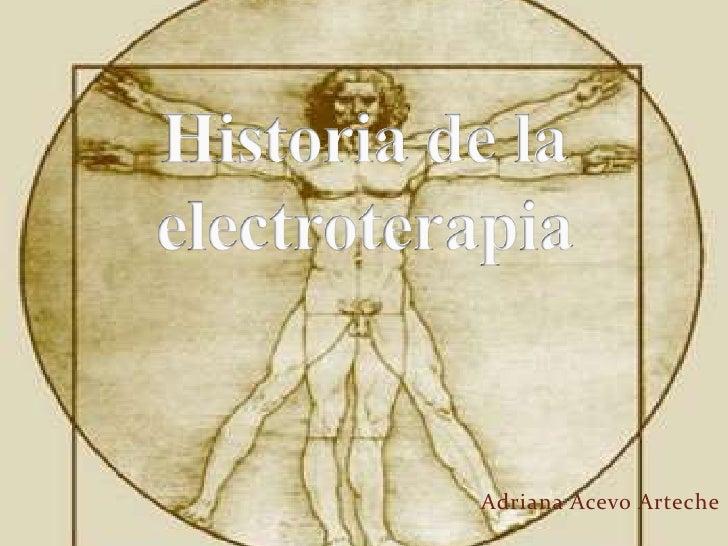 Historia de la electroterapia