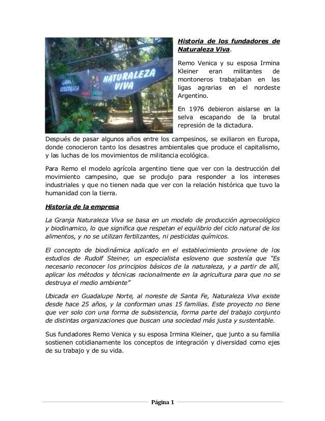 Historia de los fundadores de Naturaleza Viva. Remo Venica y su esposa Irmina Kleiner eran militantes de montoneros trabaj...