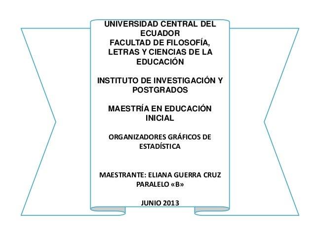 UNIVERSIDAD CENTRAL DEL ECUADOR FACULTAD DE FILOSOFÍA, LETRAS Y CIENCIAS DE LA EDUCACIÓN INSTITUTO DE INVESTIGACIÓN Y POST...