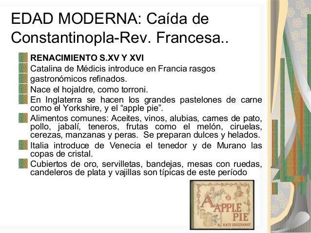 Historia de la gastronom a for Historia de la cocina moderna
