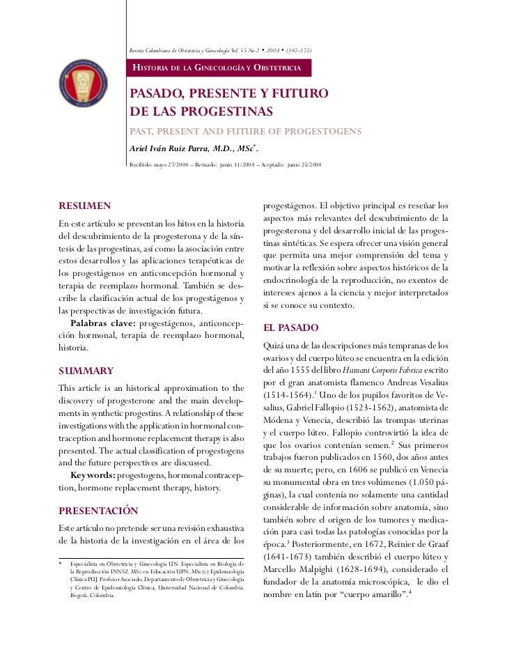 Revista Colombiana de Obstetricia y Ginecología Vol. 55 No.2 • 2004 • (167-173)                              HISTORIA DE L...