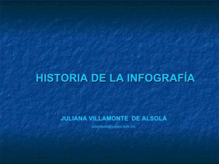 HISTORIA DE LA INFOGRAFÍA JULIANA VILLAMONTE  DE ALSOLA [email_address]