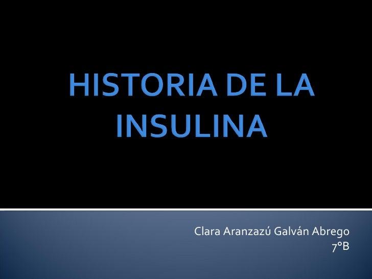 Historia De La Insulina