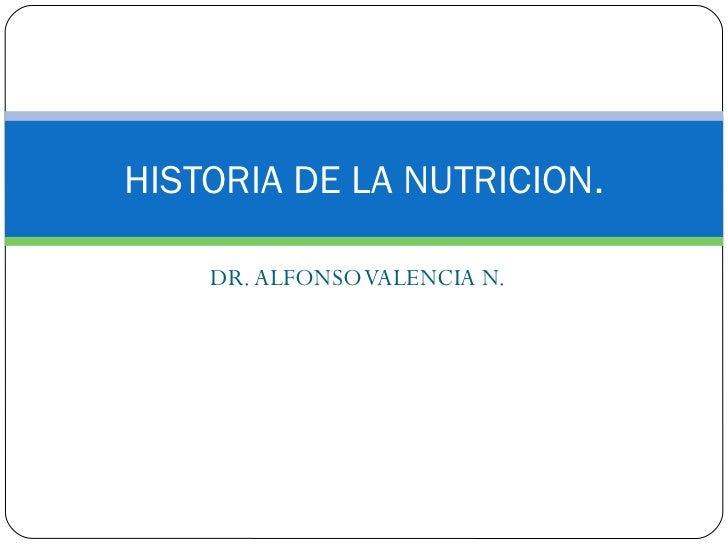 Historia de la nutricion