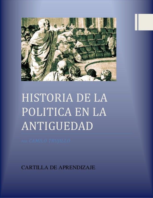 Historia de la politica en la antiguedad
