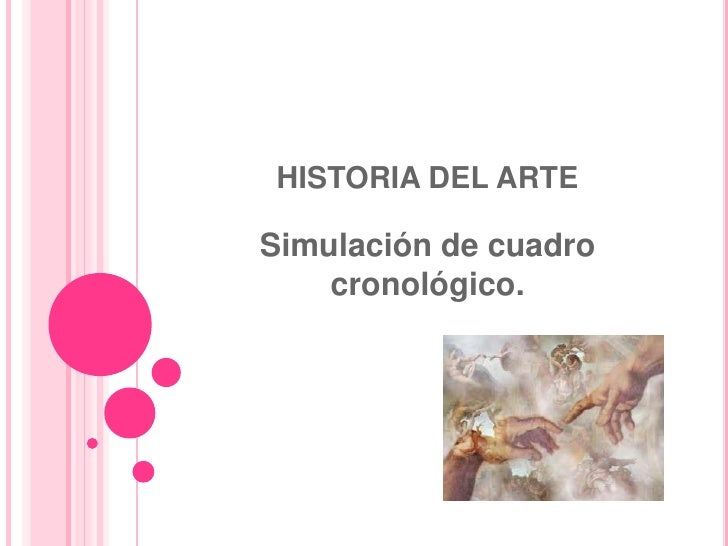 HISTORIA DEL ARTE<br />Simulación de cuadro cronológico. <br />
