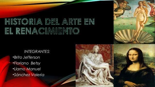 Historia del arte en el renacimiento