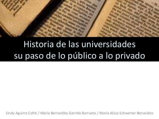 las universidades historia: