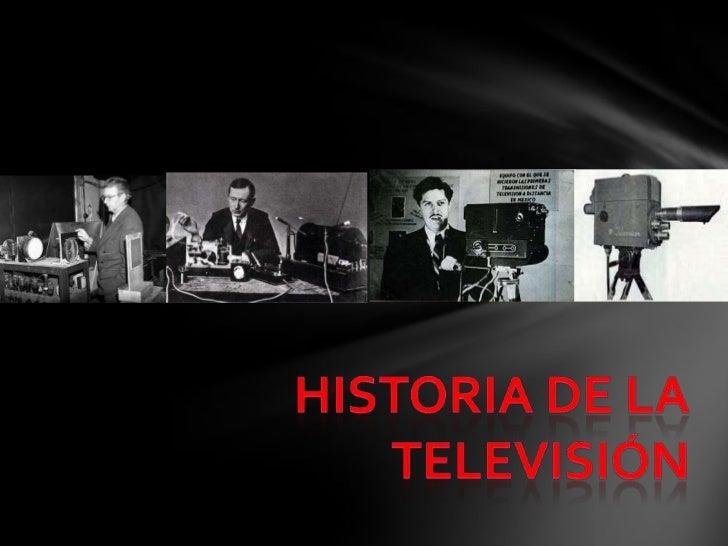 """LA TELEVISIÓN       Televisión: de la voz griega """"tele""""       (distancia) y del latín """"visio""""       (visión). Término util..."""