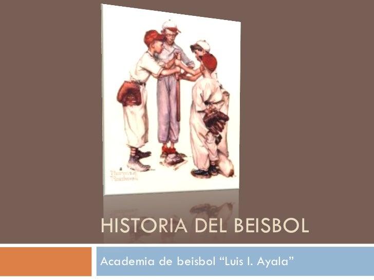 Historia del beisbol y cronología