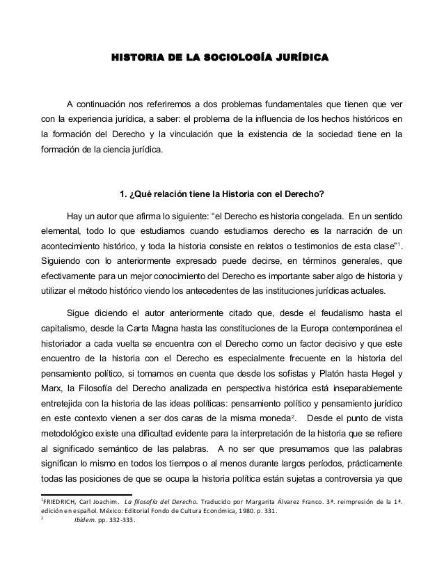 historia sociologia juridica: