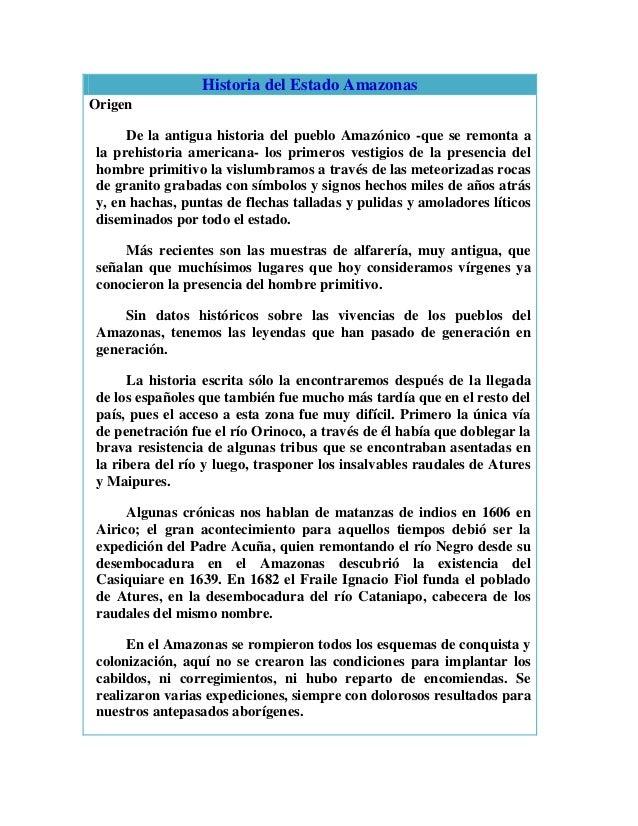 Historia del estado amazonas..