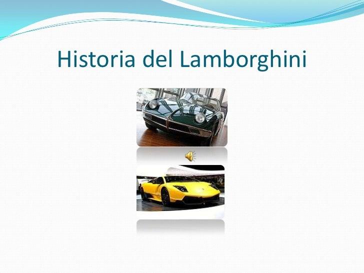 Historia del lamborghini pps