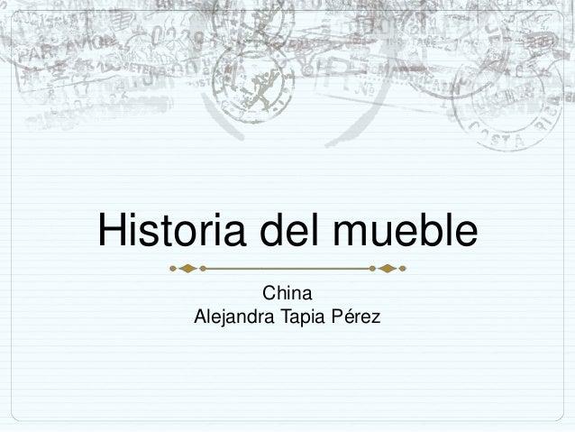 Historia del mueble chino for Historia del mueble pdf