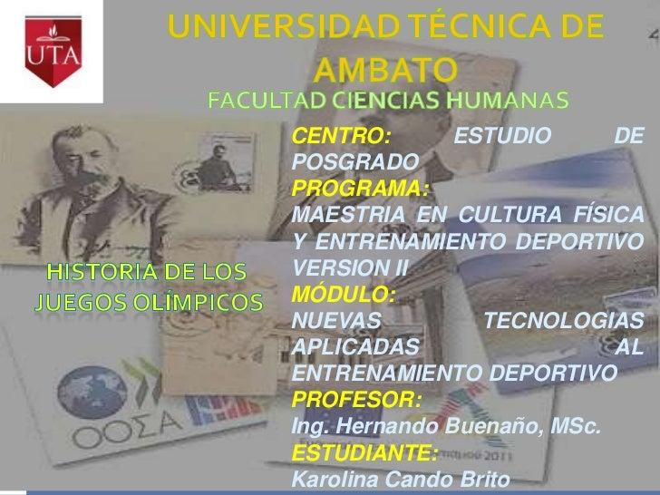 CENTRO:        ESTUDIO      DEPOSGRADOPROGRAMA:MAESTRIA EN CULTURA FÍSICAY ENTRENAMIENTO DEPORTIVOVERSION IIMÓDULO:NUEVAS ...