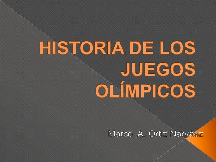 Historia de los juegos olímpicos maon