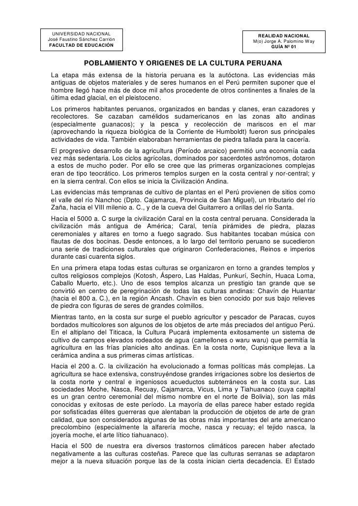UNIVERSIDAD NACIONAL                                                 REALIDAD NACIONALJosé Faustino Sánchez Carrión       ...