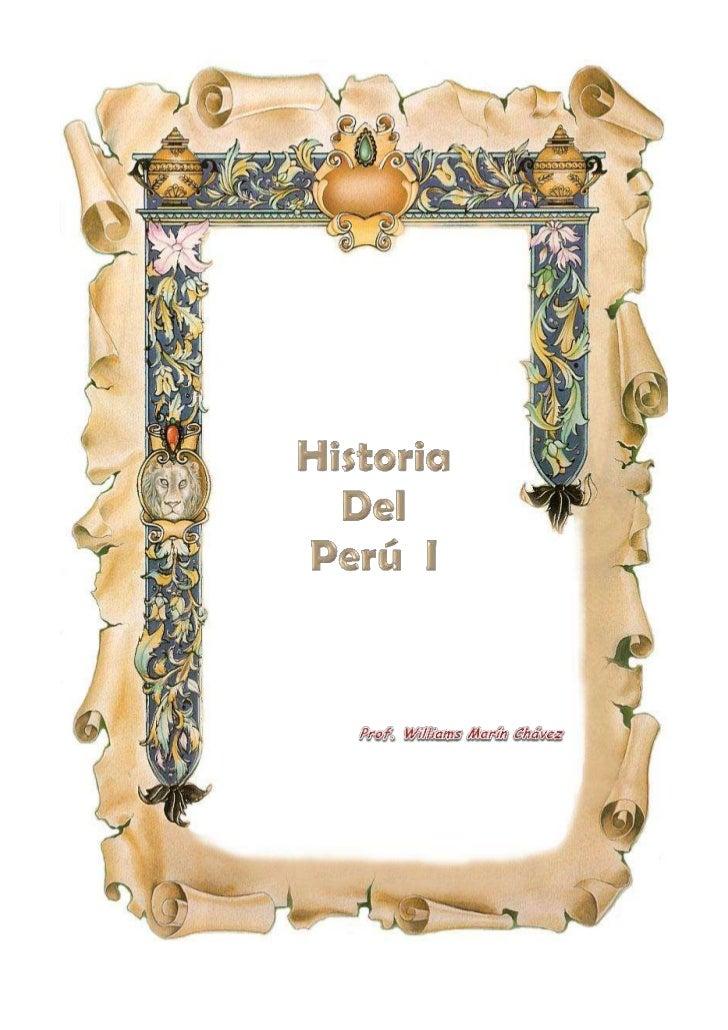 Historia del perú i