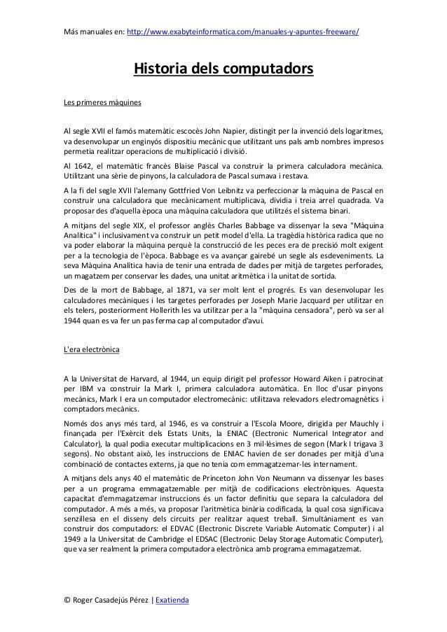 Más manuales en: http://www.exabyteinformatica.com/manuales-y-apuntes-freeware/© Roger Casadejús Pérez | ExatiendaHistoria...