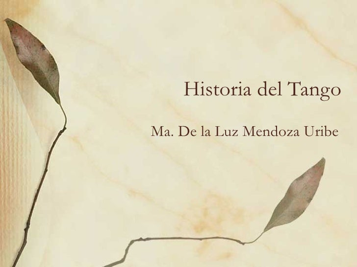 Historia del tango