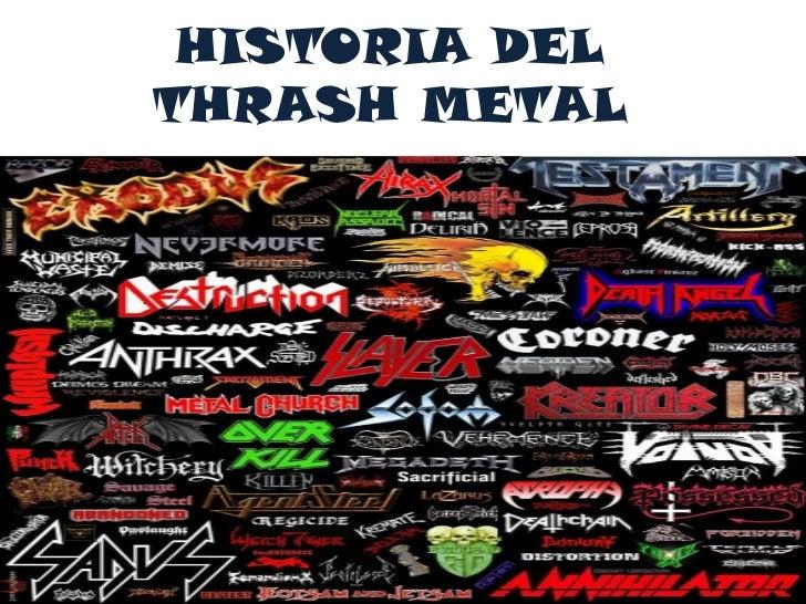 HISTORIA DELTHRASH METAL