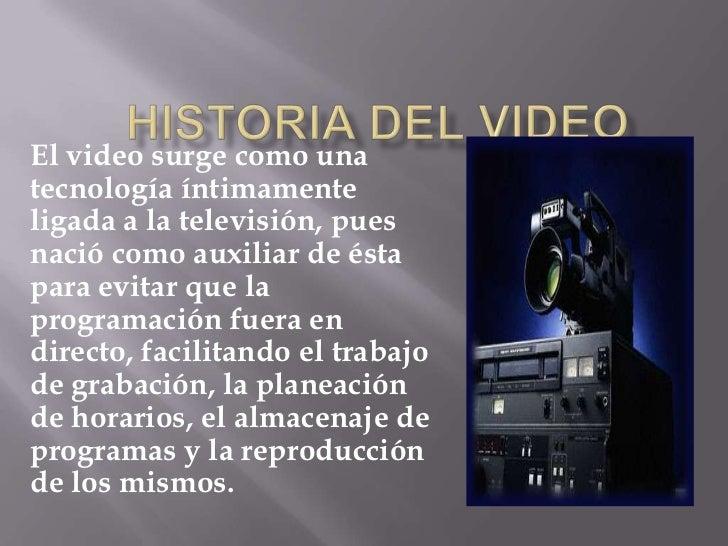 Historia del video