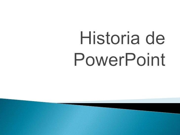 Historia de PowerPoint