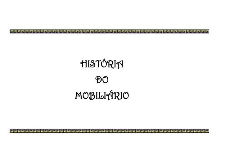 Historia do mobiliario