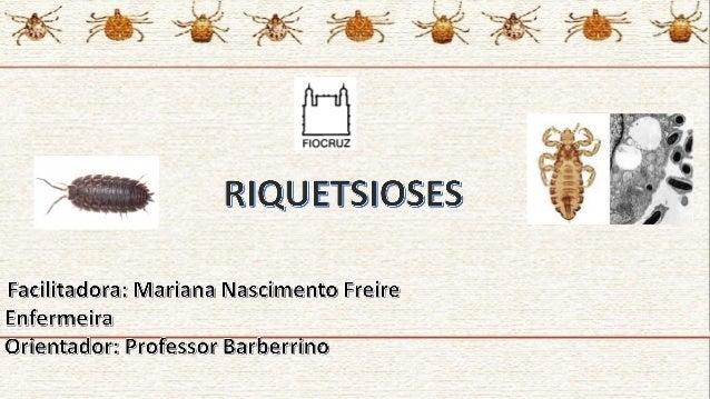 RiquettsiasRiquettsias • São bactérias Gram-negativas agrupadas na família Rickettsiaceae, constituída pelos gêneros Ricke...