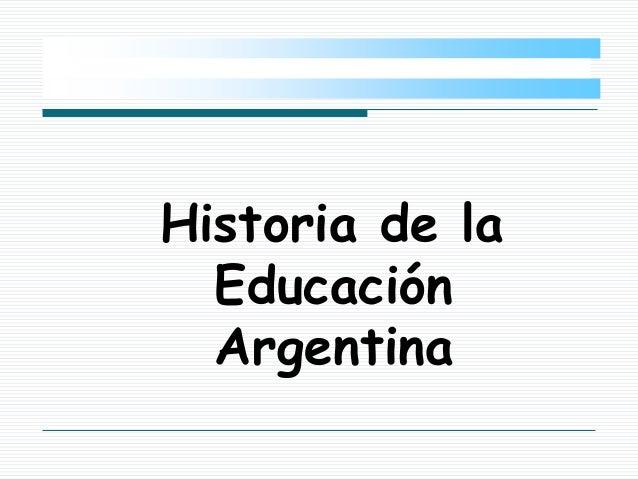 historia educaci n argentina 1a
