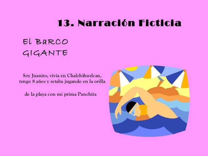 Soy Juanito, vivía en Chalchihuelcan, tengo 8 años y estaba jugando en la orilla de la playa con mi prima Panchita   13. N...