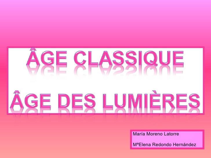 Âge Classique Âge des Lumières