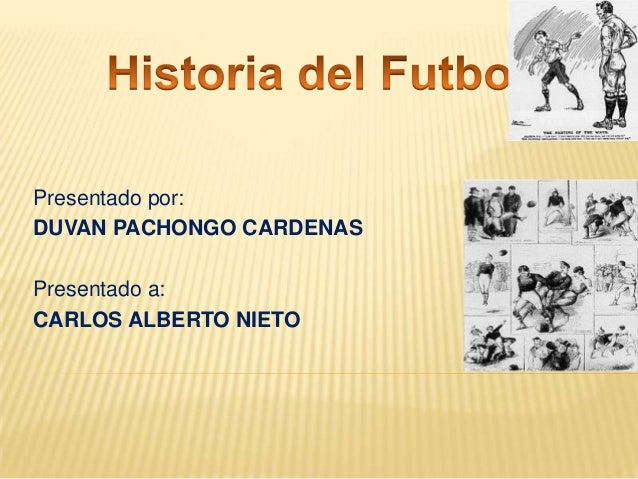 Presentado por: DUVAN PACHONGO CARDENAS Presentado a: CARLOS ALBERTO NIETO