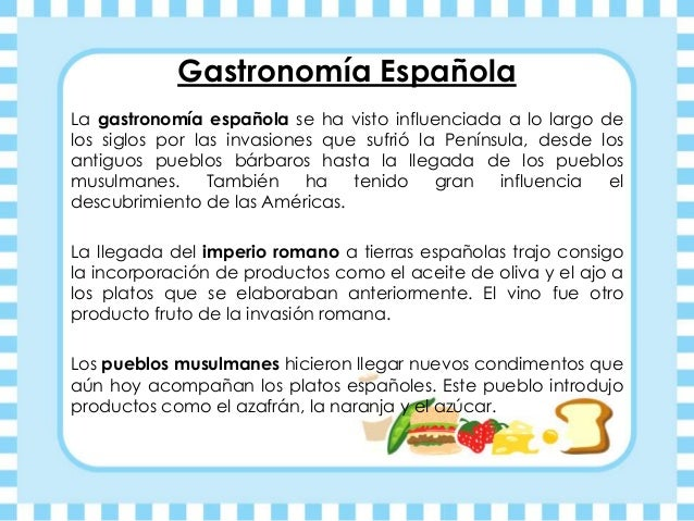 Historia gastronomia power point - La cocina espanola ...