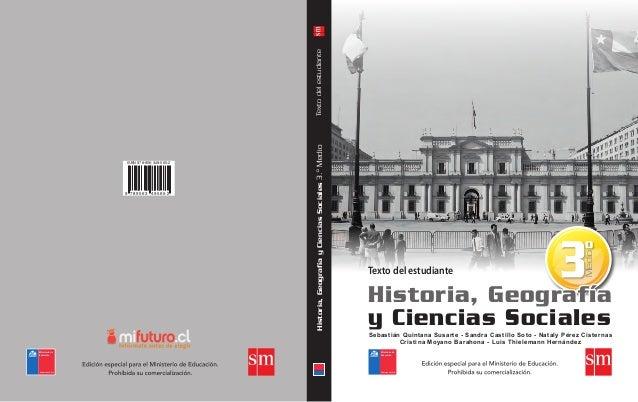 Texto del estudiante  Medio  Texto del estudiante 9 789563 495652  Historia, Geografía y Ciencias Sociales 3.º Medio  ISBN...