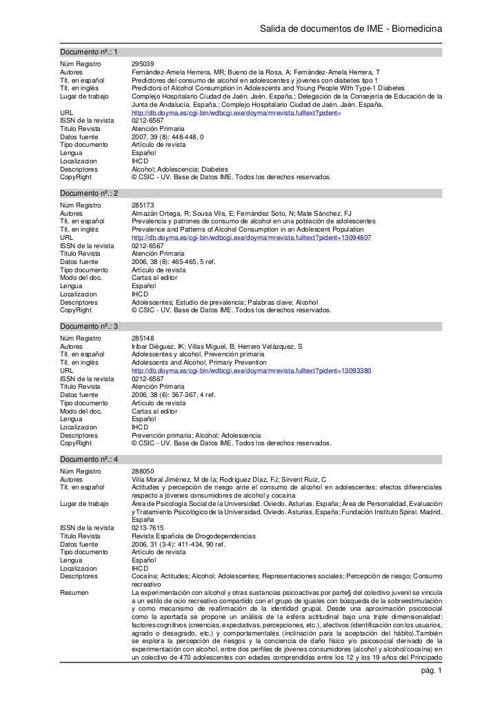 Salida de documentos de IME - BiomedicinaDocumento nº.: 1Núm Registro         295039Autores              Fernández-Amela H...