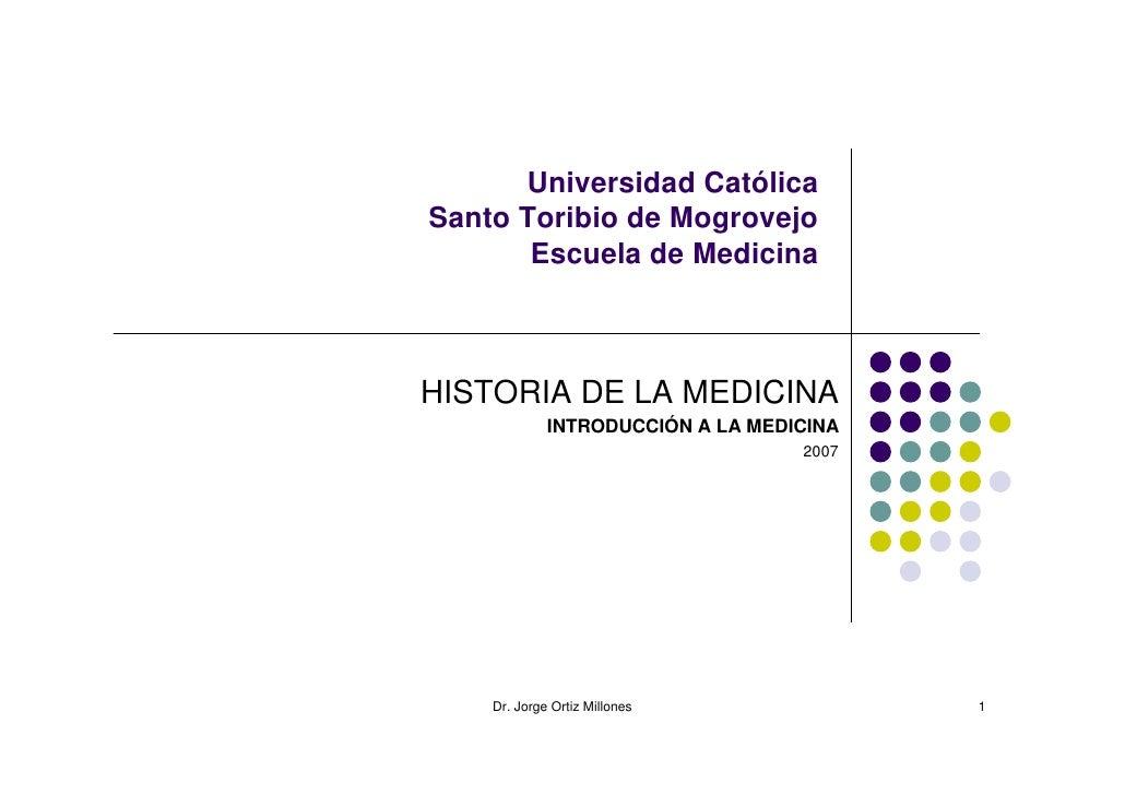 Historia de la Medicina en el Perú y el Mundo