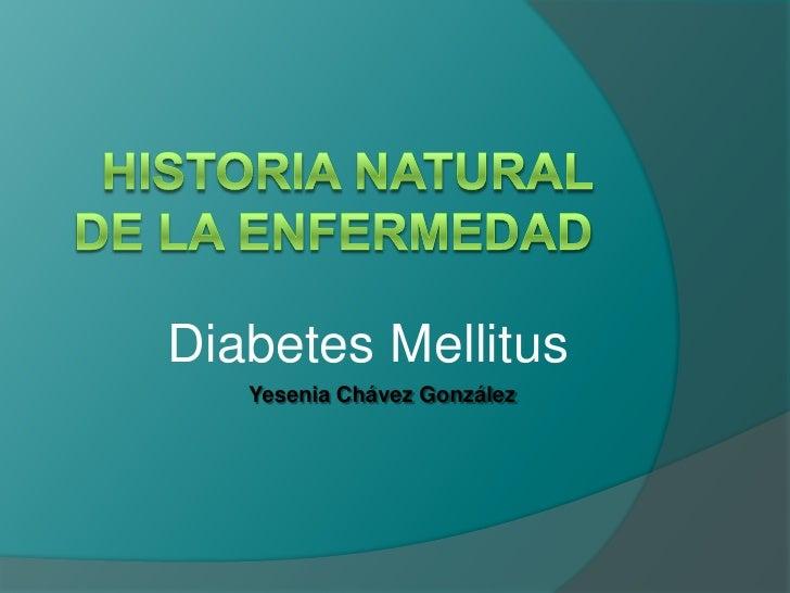Historia Natural de la Enfermedad<br />Diabetes Mellitus<br />Yesenia Chávez González<br />
