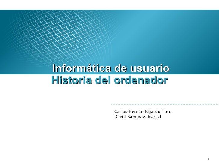 Historia Ordenador