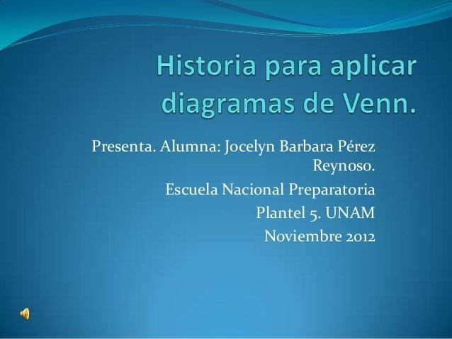 Presenta. Alumna: Jocelyn Barbara Pérez                               Reynoso.          Escuela Nacional Preparatoria     ...