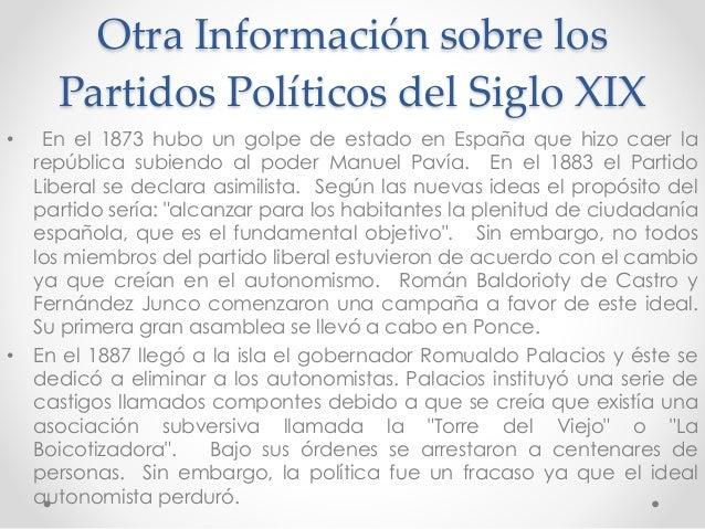Historia partidos politicos siglo xix for Informacion sobre los arquitectos
